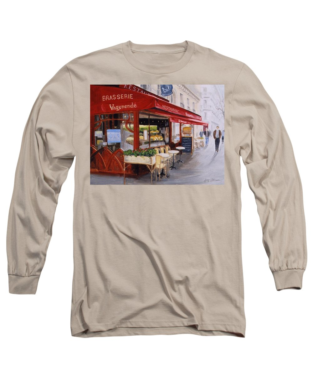 Cafe Long Sleeve T-Shirt featuring the painting Cafe 4 by Jay Johnson