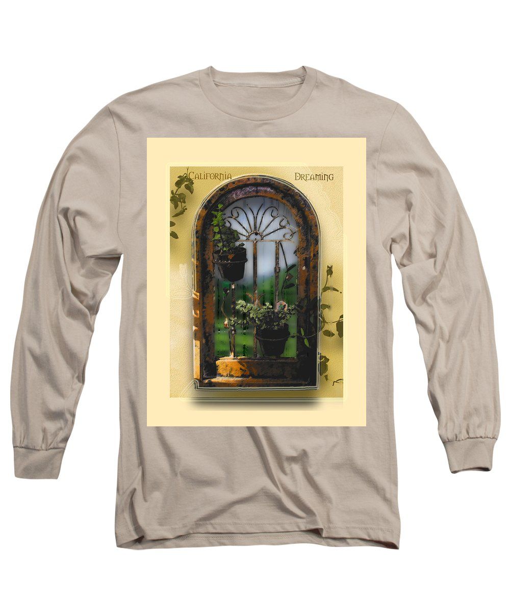 Abstract Long Sleeve T-Shirt featuring the photograph California Dreamin by Karen W Meyer