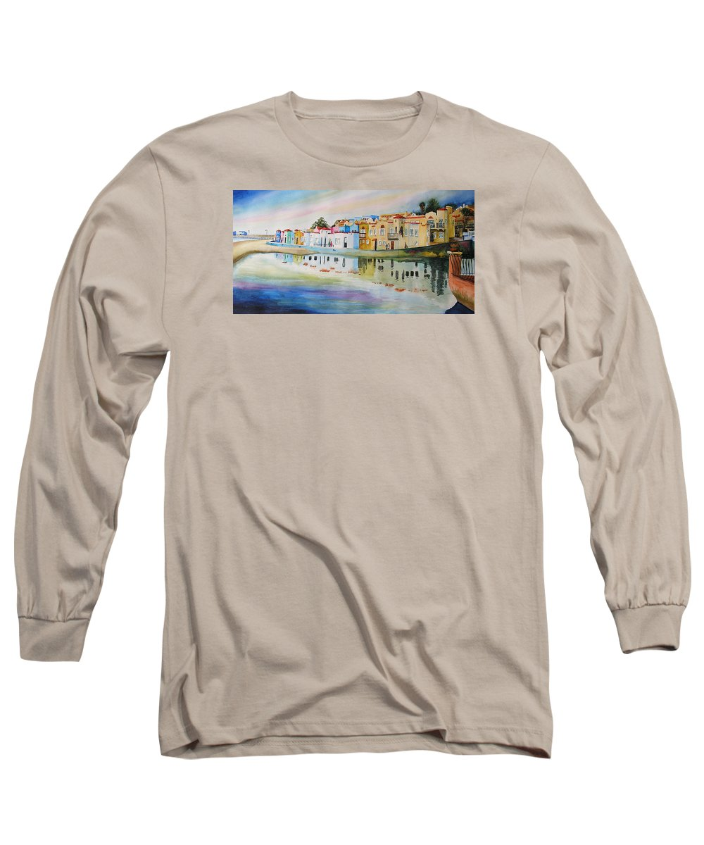 Capitola Long Sleeve T-Shirt featuring the painting Capitola by Karen Stark