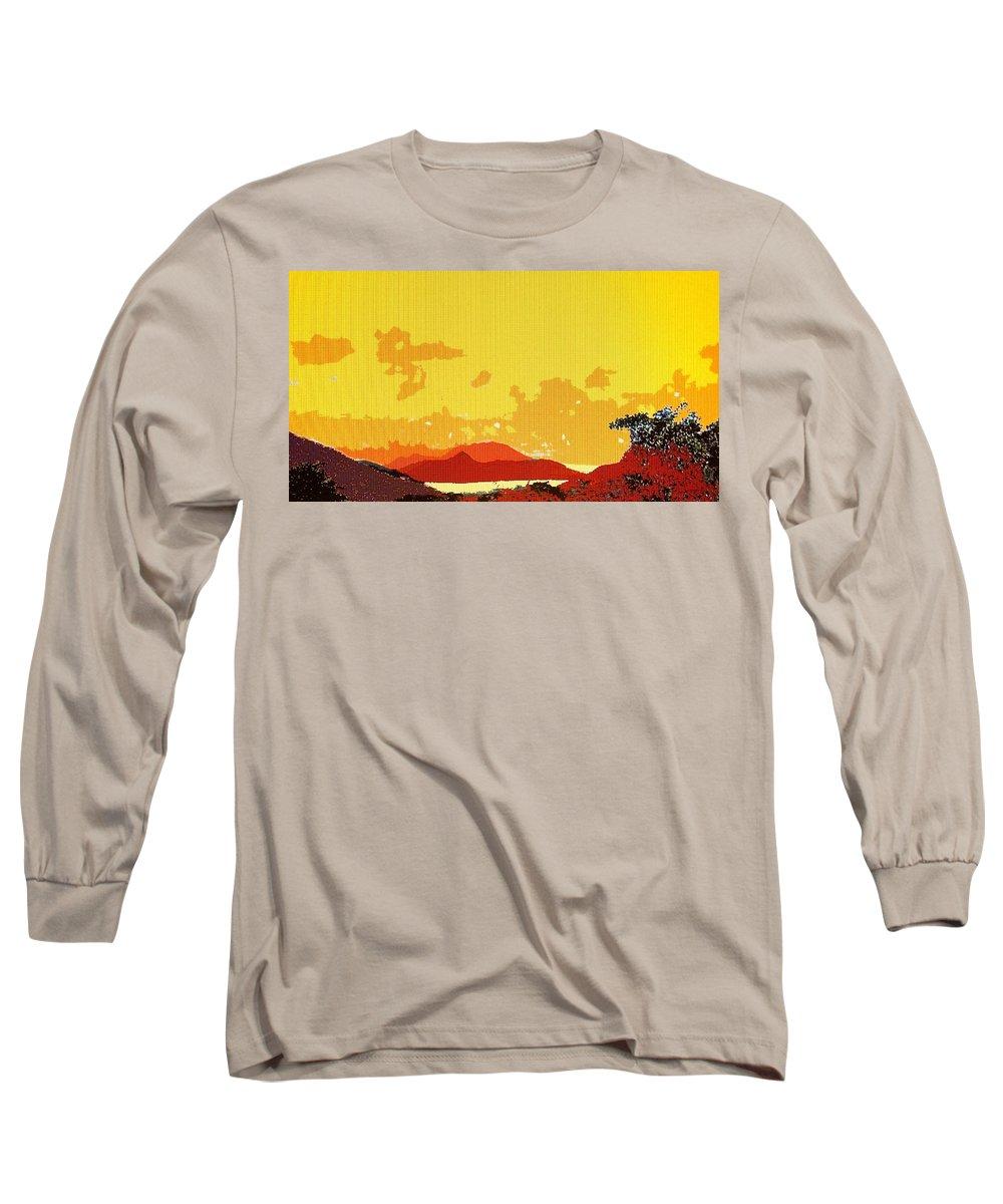 Caribbean Long Sleeve T-Shirt featuring the photograph Caribbean Sky by Ian MacDonald