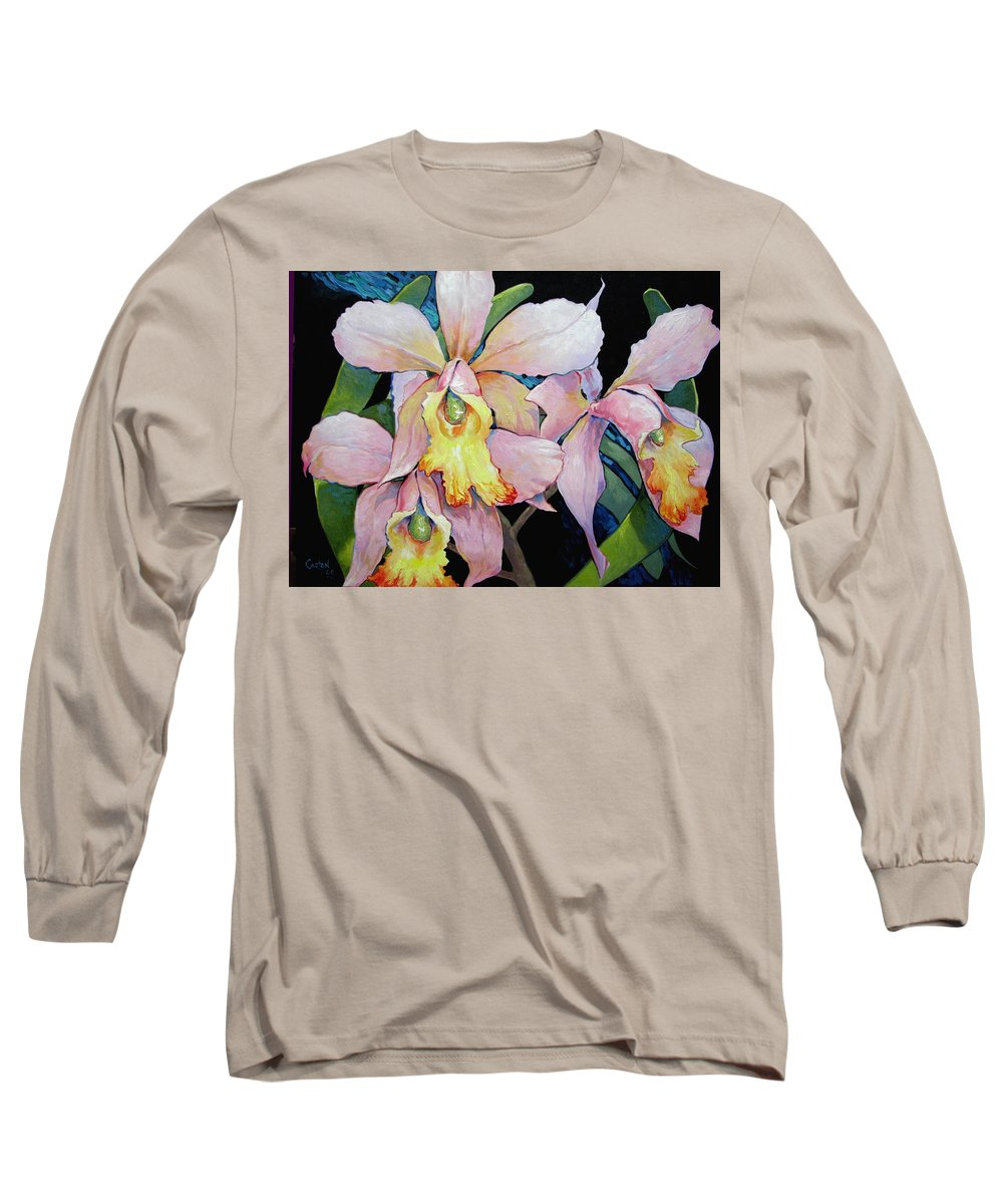 Catalya Long Sleeve T-Shirt featuring the painting Catalya Arrangement by Jerrold Carton