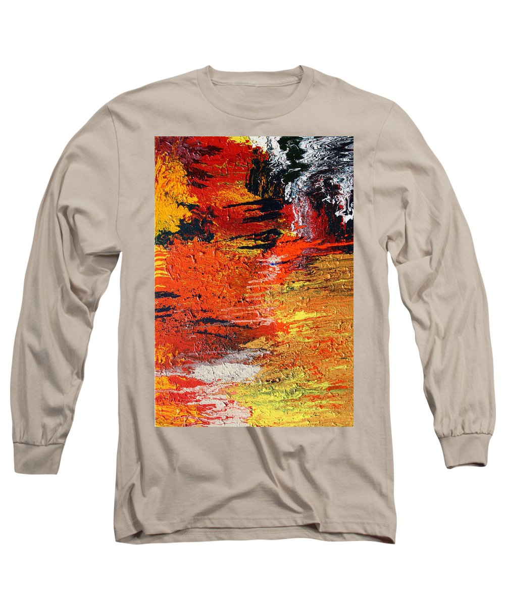 Fusionart Long Sleeve T-Shirt featuring the painting Chasm by Ralph White