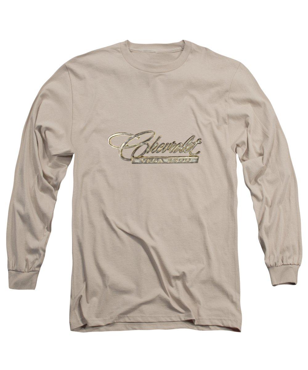 Automotive Long Sleeve T-Shirt featuring the photograph Chevrolet Vega Emblem by YoPedro