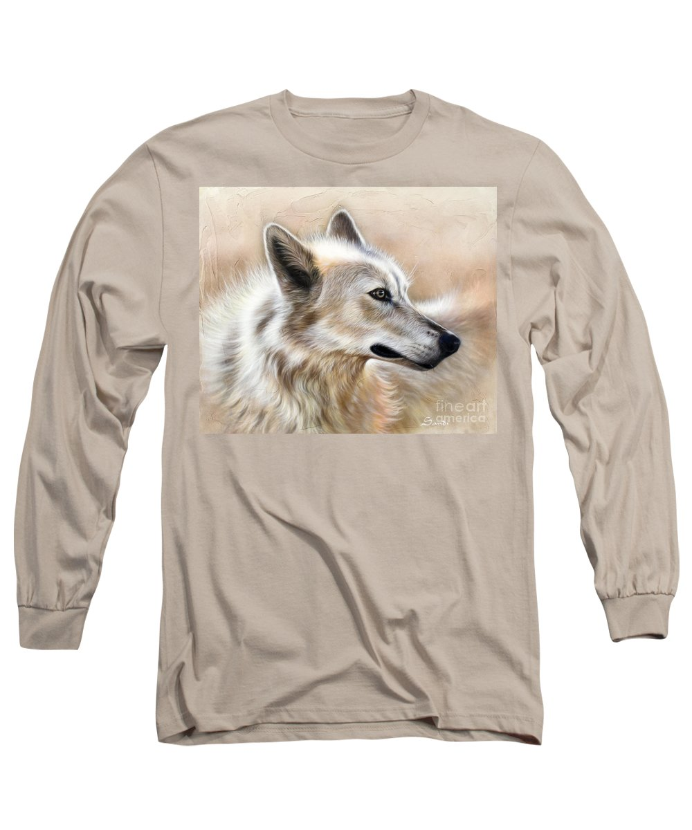 Acrylic Long Sleeve T-Shirt featuring the painting Cheyenne by Sandi Baker