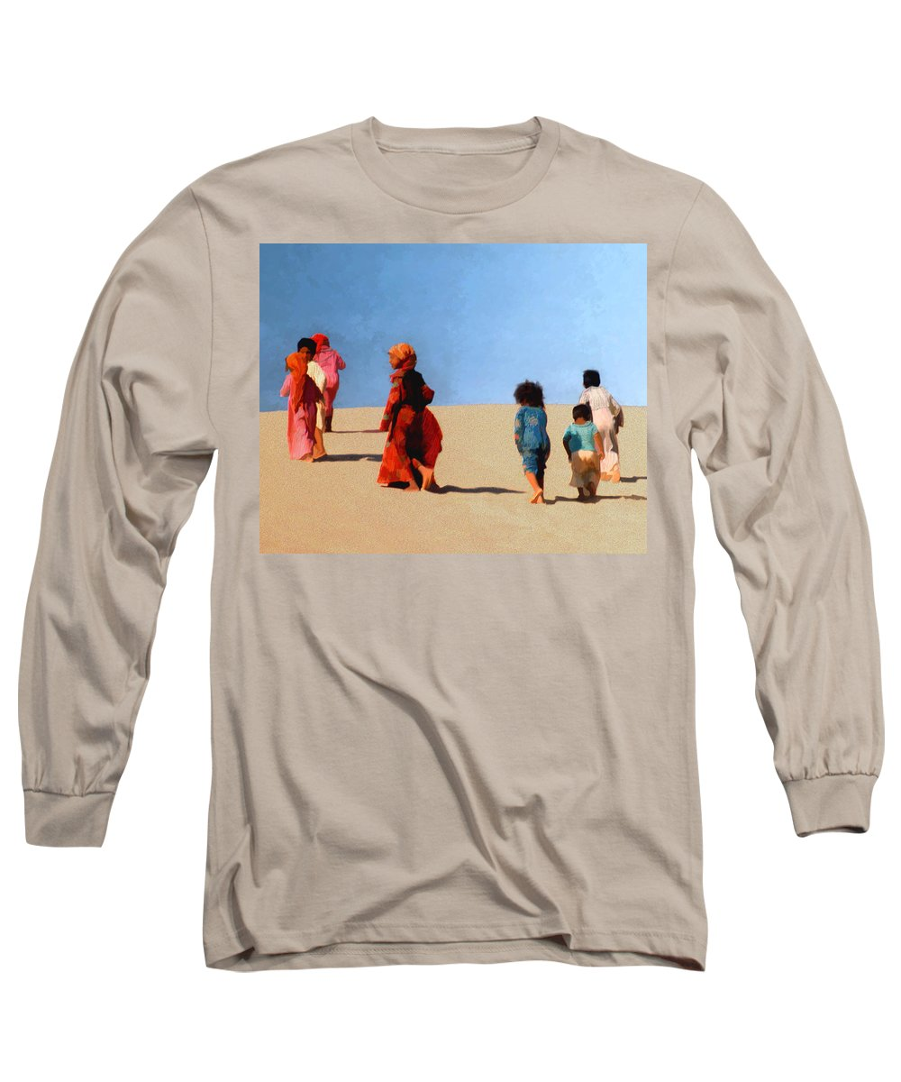 Children Long Sleeve T-Shirt featuring the photograph Children Of The Sinai by Kurt Van Wagner