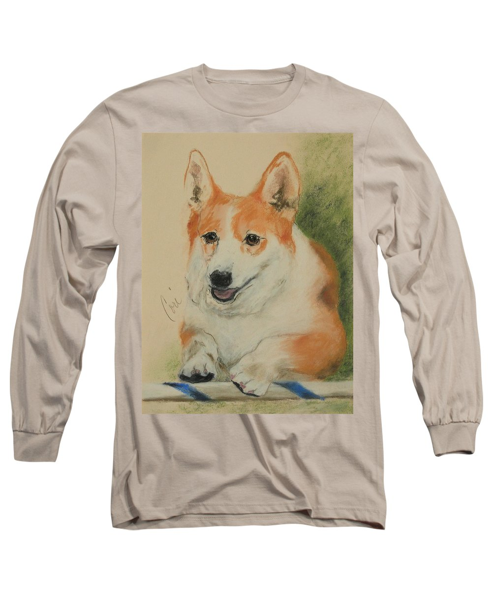 Pastel Long Sleeve T-Shirt featuring the drawing Clear Run by Cori Solomon