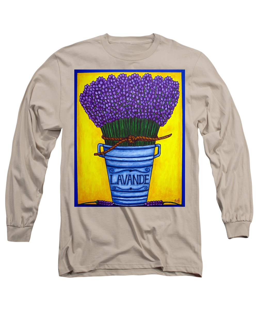 Antique Long Sleeve T-Shirt featuring the painting Colours Of Provence by Lisa Lorenz