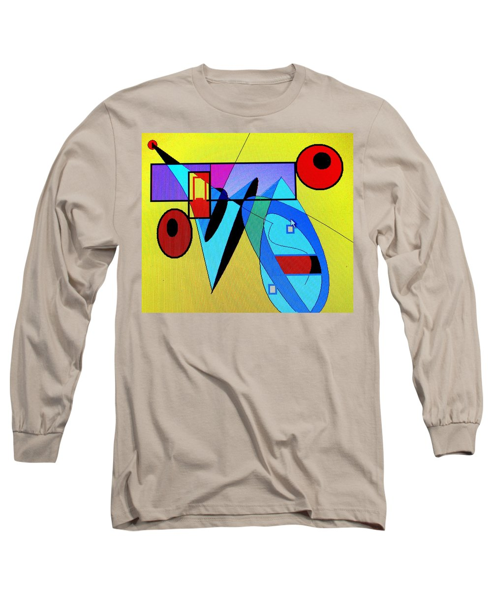 Horn Long Sleeve T-Shirt featuring the digital art Come Blow Your Horn by Ian MacDonald