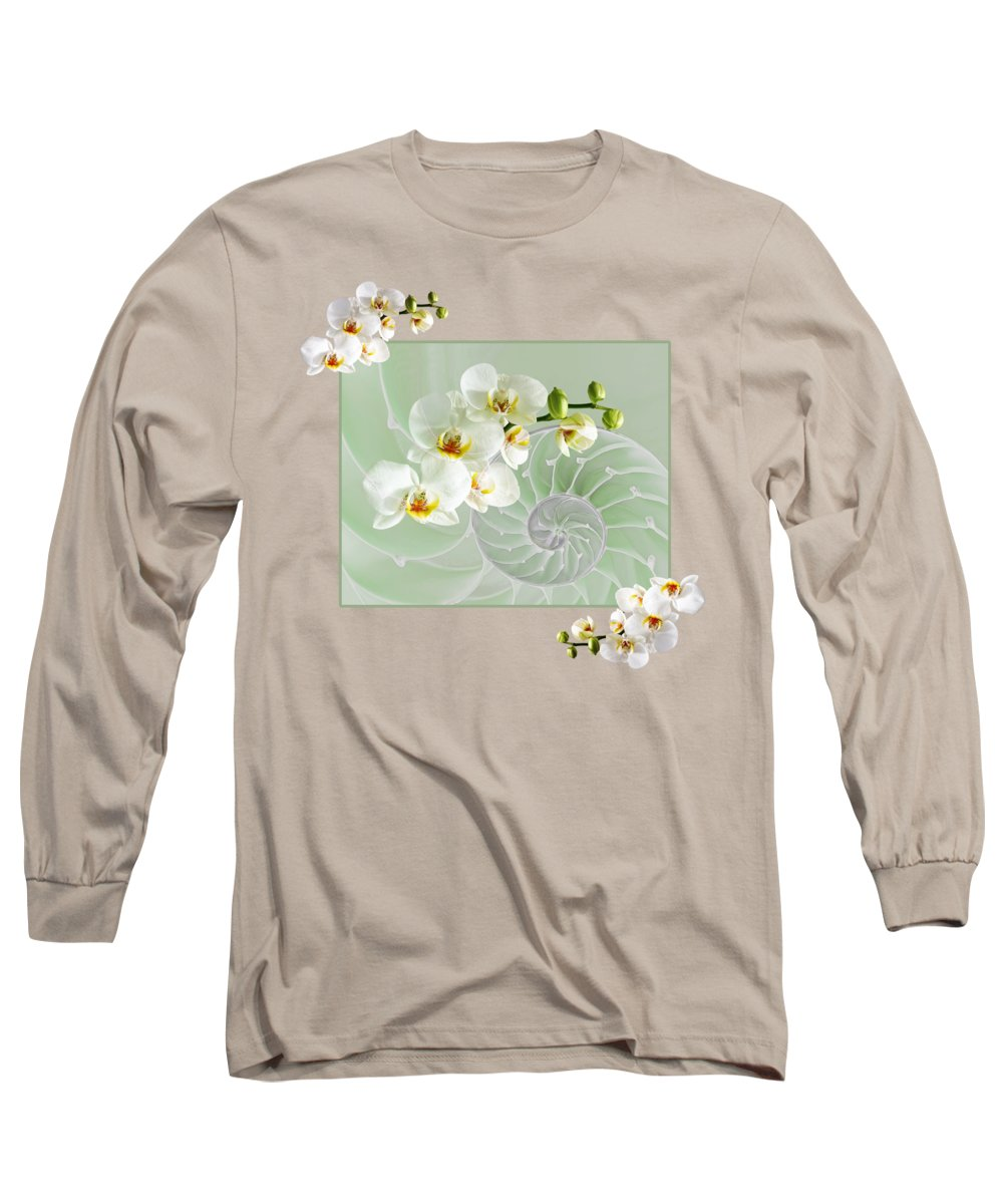 Nautilus Shell Long Sleeve T-Shirt featuring the photograph Cool Green Fusion by Gill Billington