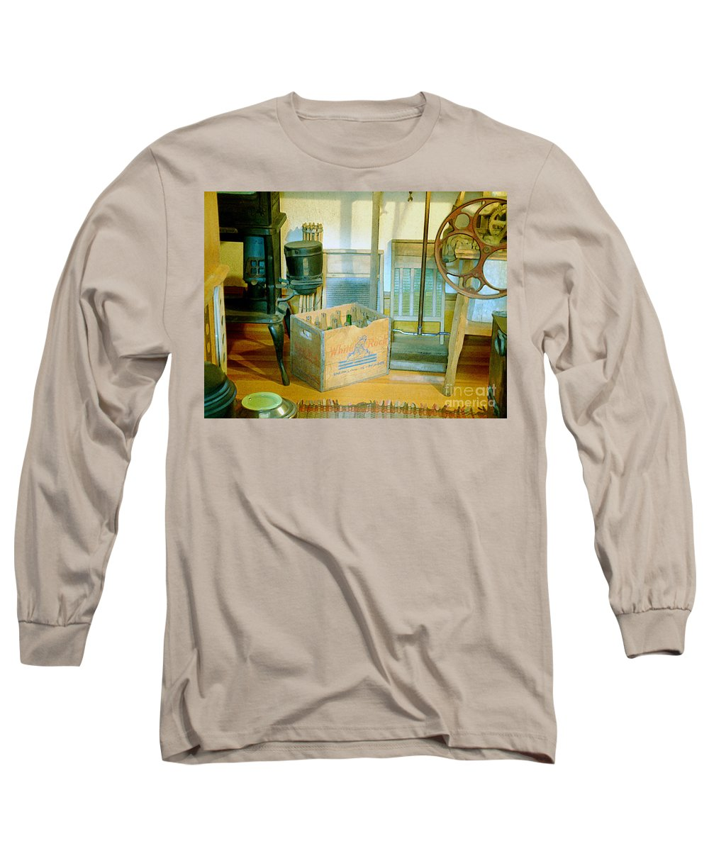 Kitchen Long Sleeve T-Shirt featuring the painting Country Kitchen Sunshine II by RC deWinter