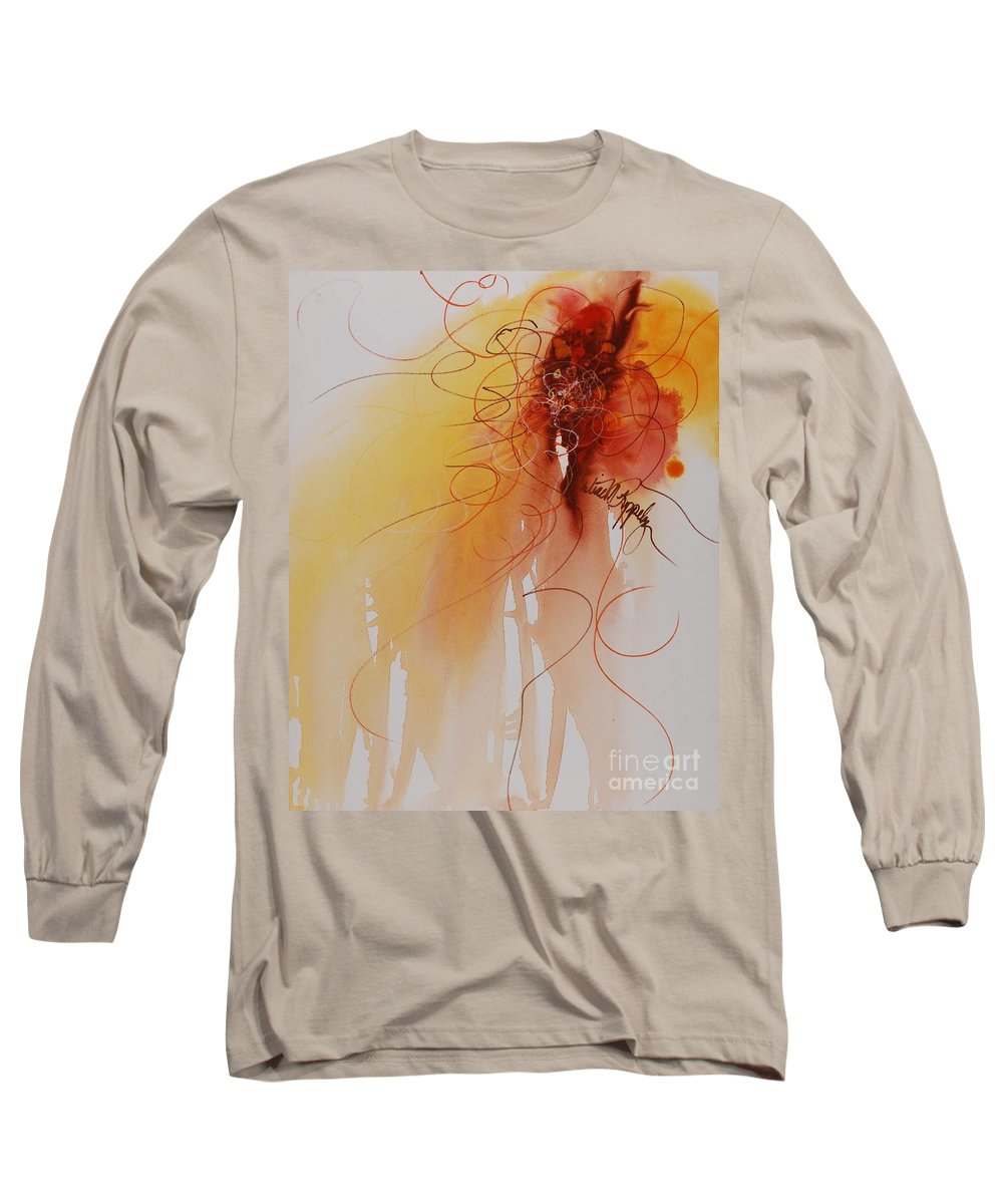 Creativity Long Sleeve T-Shirt featuring the painting Creativity by Nadine Rippelmeyer