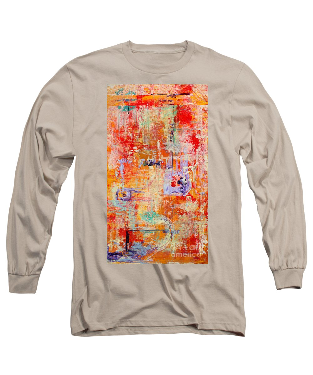 Large Format Painting Long Sleeve T-Shirt featuring the painting Crescendo by Pat Saunders-White