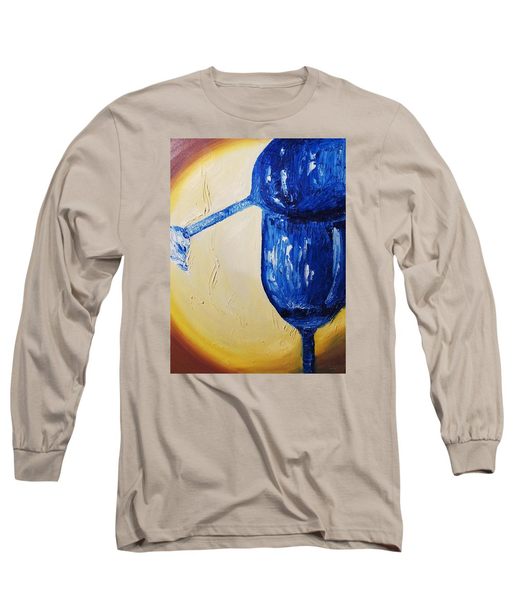 Glass Long Sleeve T-Shirt featuring the painting Crystal Spotlight by Lauren Luna