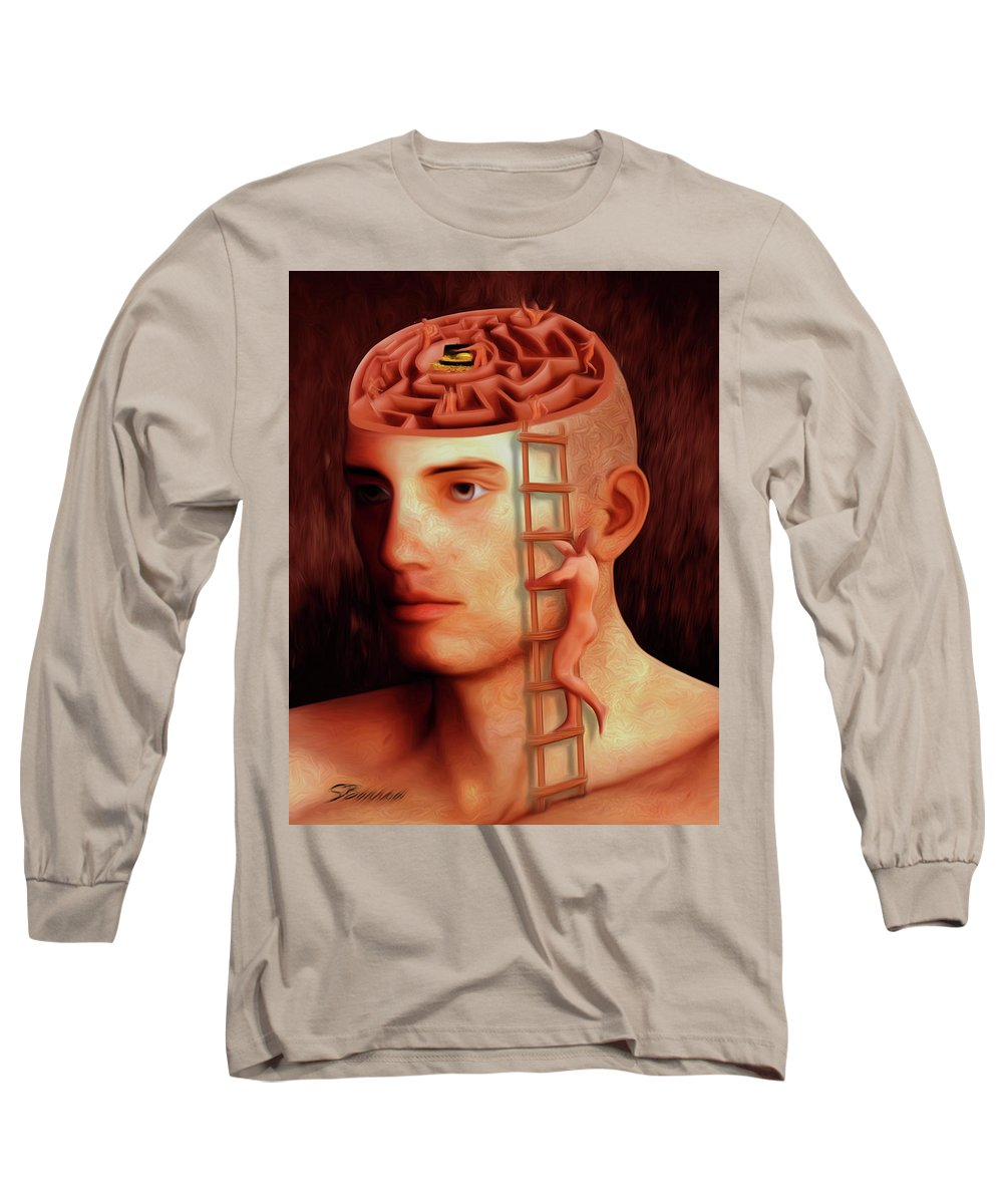 Brain Freeze Paintings Long Sleeve T-Shirts