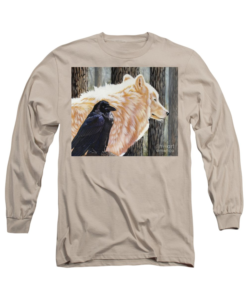 Acrylic Long Sleeve T-Shirt featuring the painting Dance In The Light by Sandi Baker