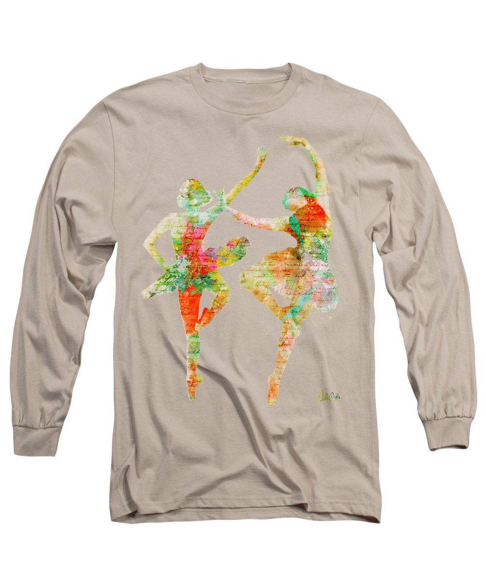 Ballet Long Sleeve T-Shirt featuring the digital art Dance With Me by Nikki Smith