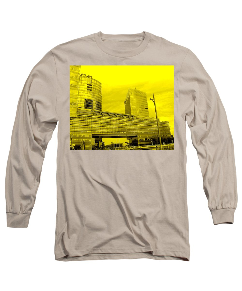 Vienna Long Sleeve T-Shirt featuring the photograph Daring Architecture by Ian MacDonald