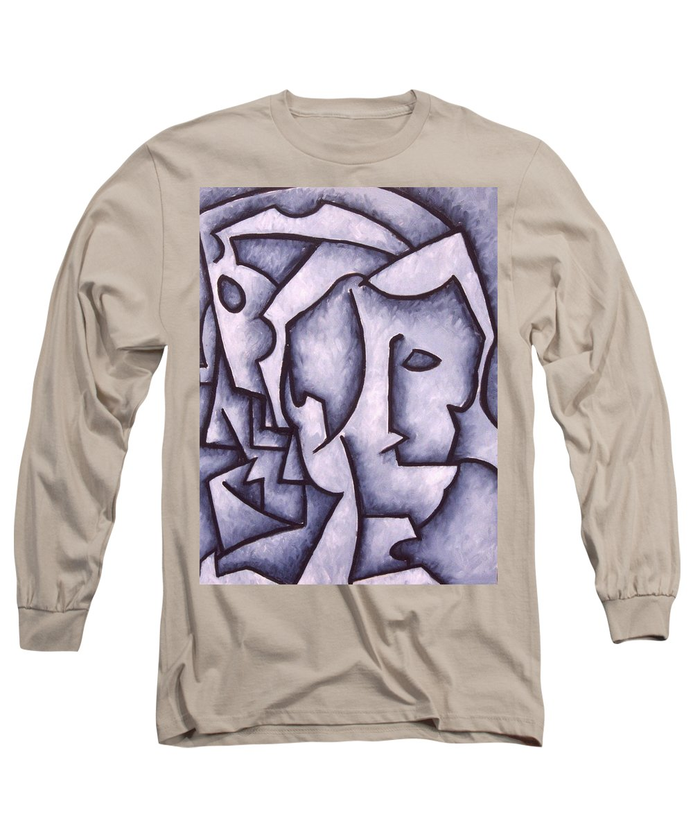 Abstract Long Sleeve T-Shirt featuring the painting David by Thomas Valentine