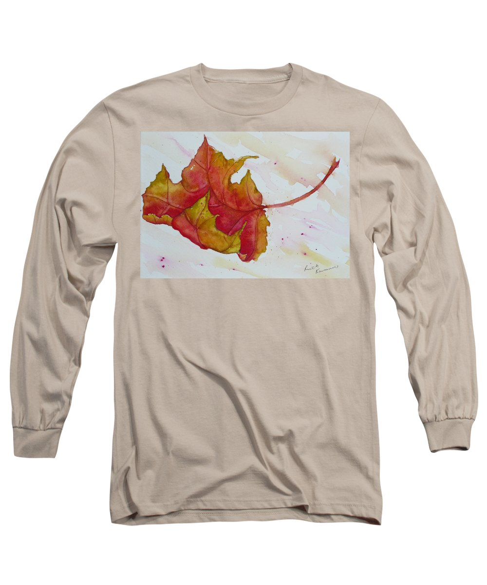 Fall Long Sleeve T-Shirt featuring the painting Descending by Ruth Kamenev