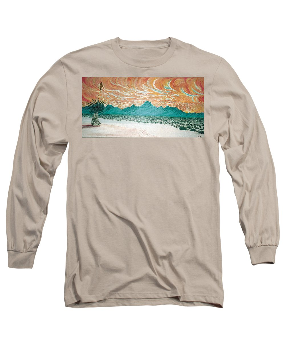 Desertscape Long Sleeve T-Shirt featuring the painting Desert Splendor by Marco Morales