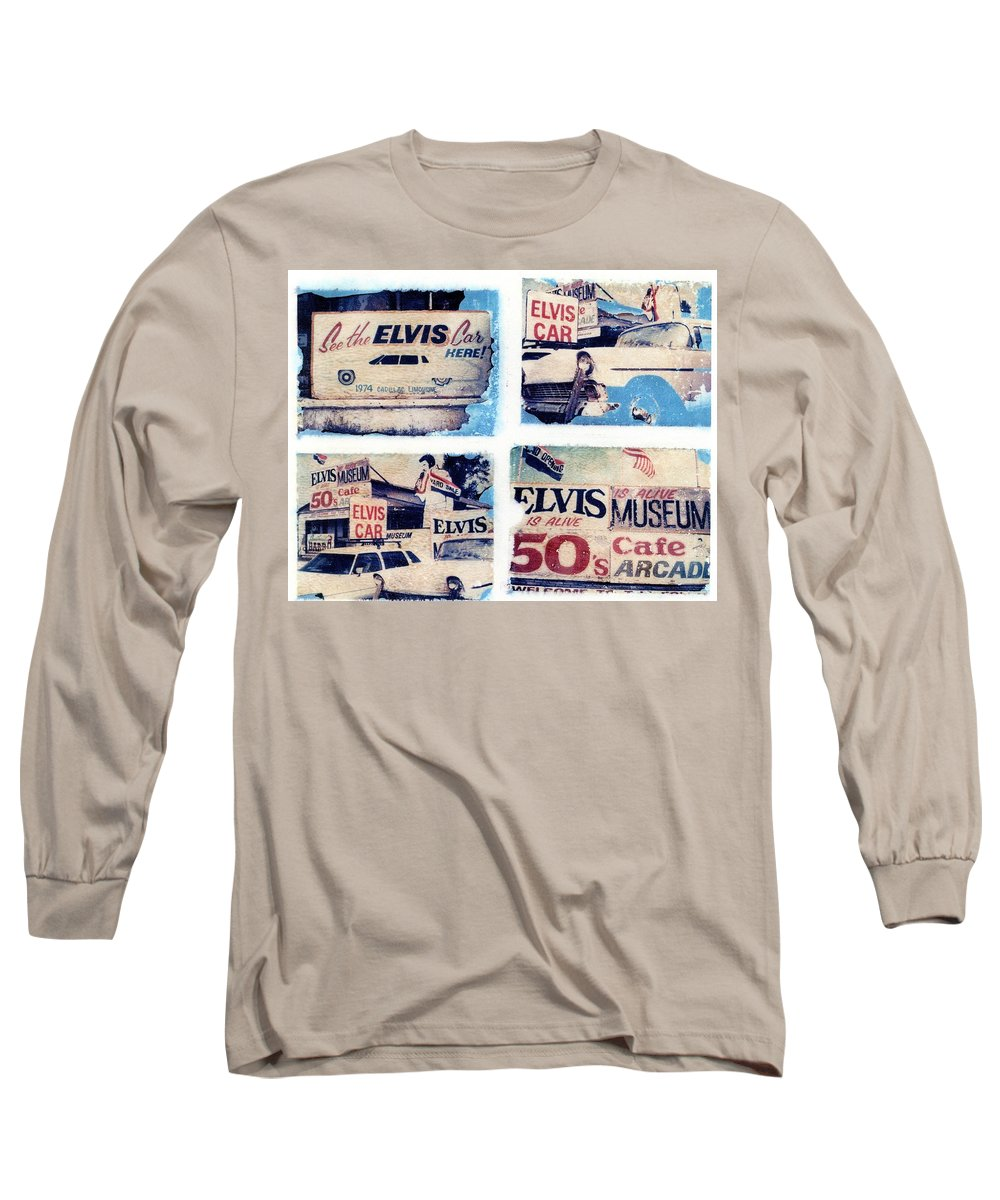 Elvis Long Sleeve T-Shirt featuring the photograph Disgraceland by Jane Linders