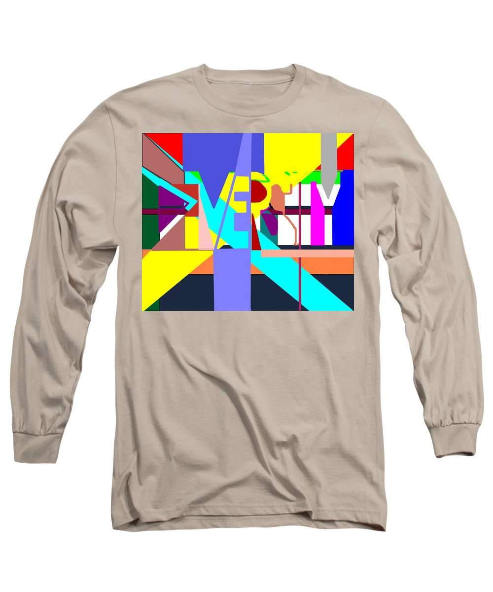 Diversity Long Sleeve T-Shirt featuring the digital art Diversity Enmeshed by Pharris Art