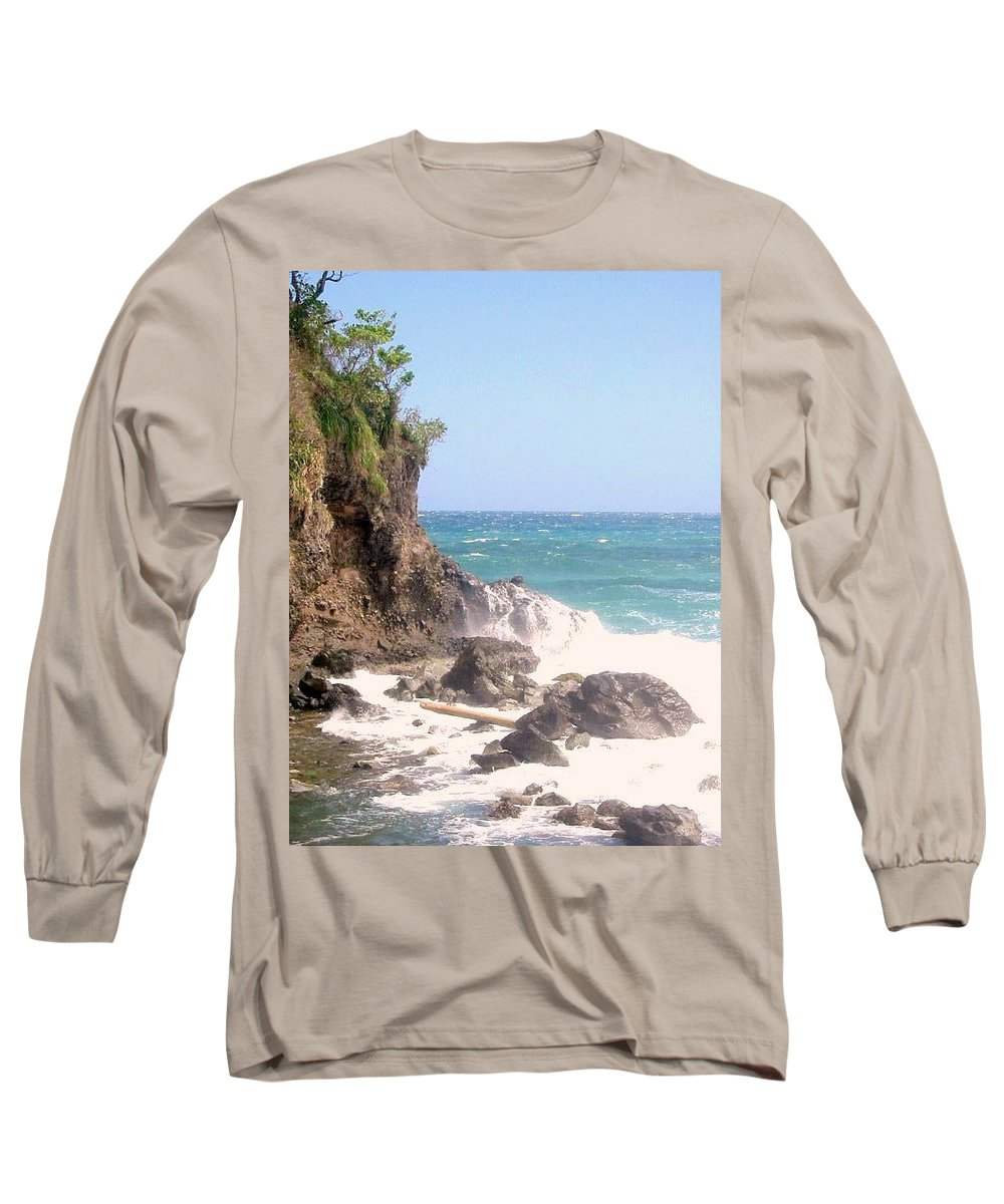 Dominica Long Sleeve T-Shirt featuring the photograph Dominica North Atlantic Coast by Ian MacDonald