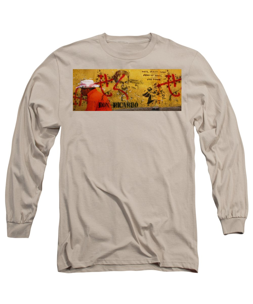 Grafitti Long Sleeve T-Shirt featuring the photograph Don-ricardo by Skip Hunt