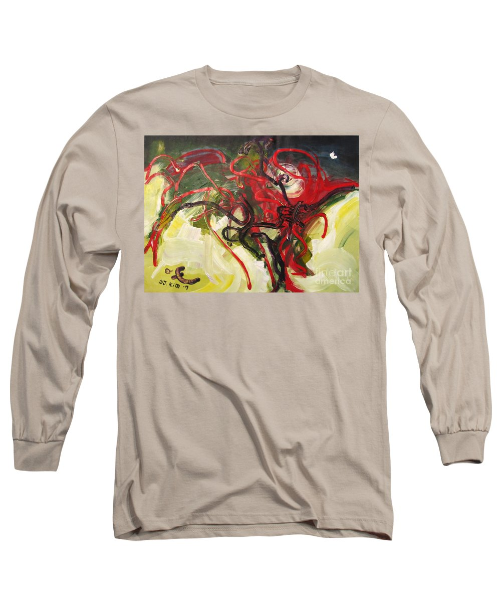 Abstract Paintings Paintings Abstract Art Paintings Long Sleeve T-Shirt featuring the painting Don't Bother Me by Seon-Jeong Kim