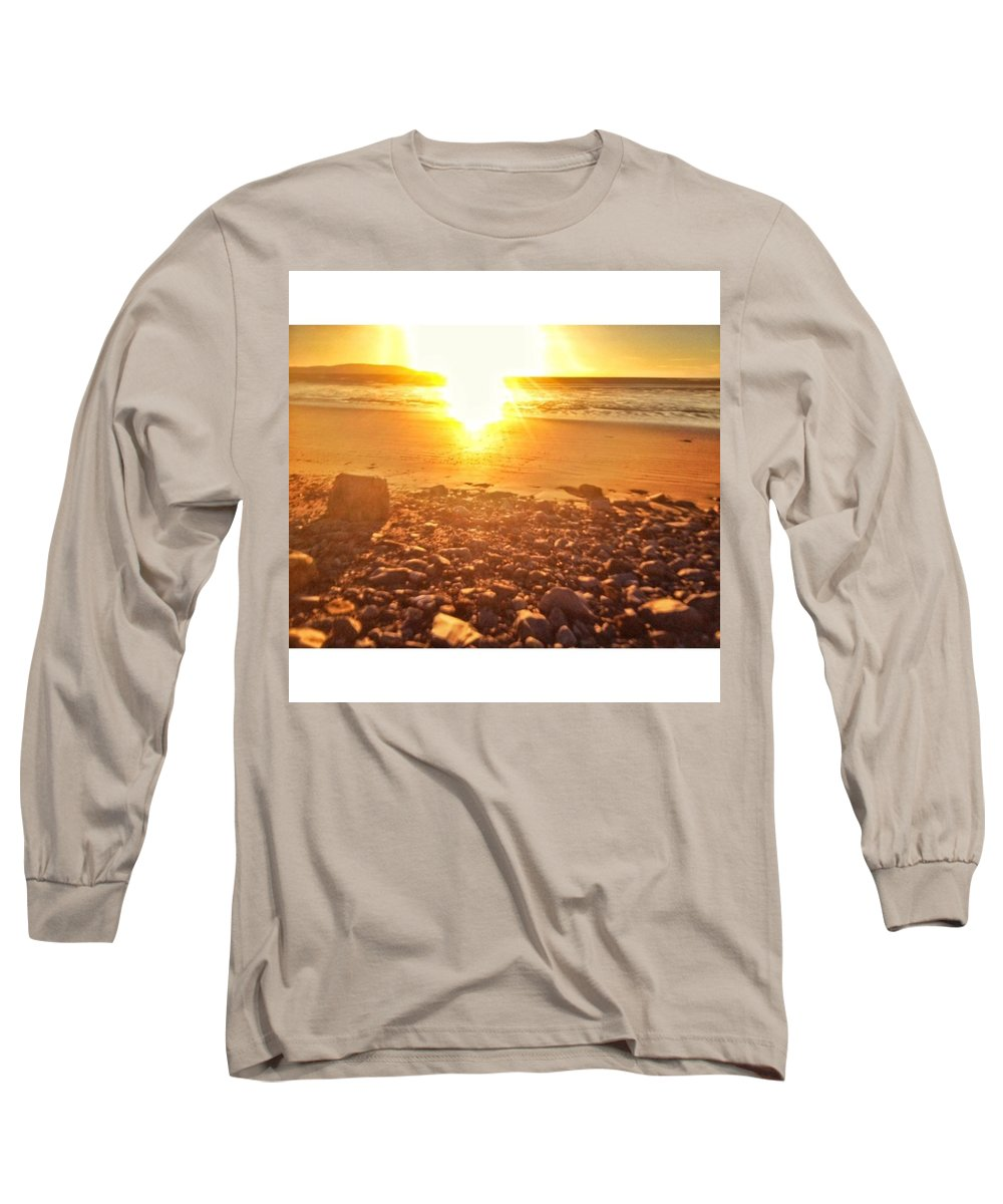 Fff Long Sleeve T-Shirt featuring the photograph Down The Beach #beach by Tai Lacroix