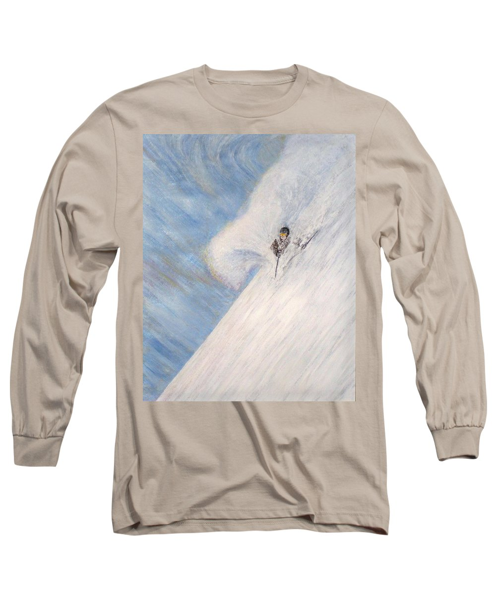 Landscape Long Sleeve T-Shirt featuring the painting Dreamsareal by Michael Cuozzo