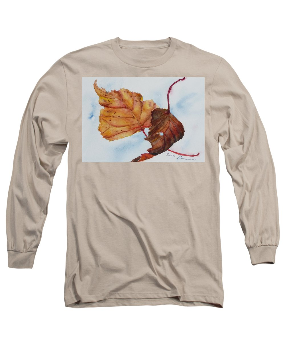 Fall Long Sleeve T-Shirt featuring the painting Drifting by Ruth Kamenev