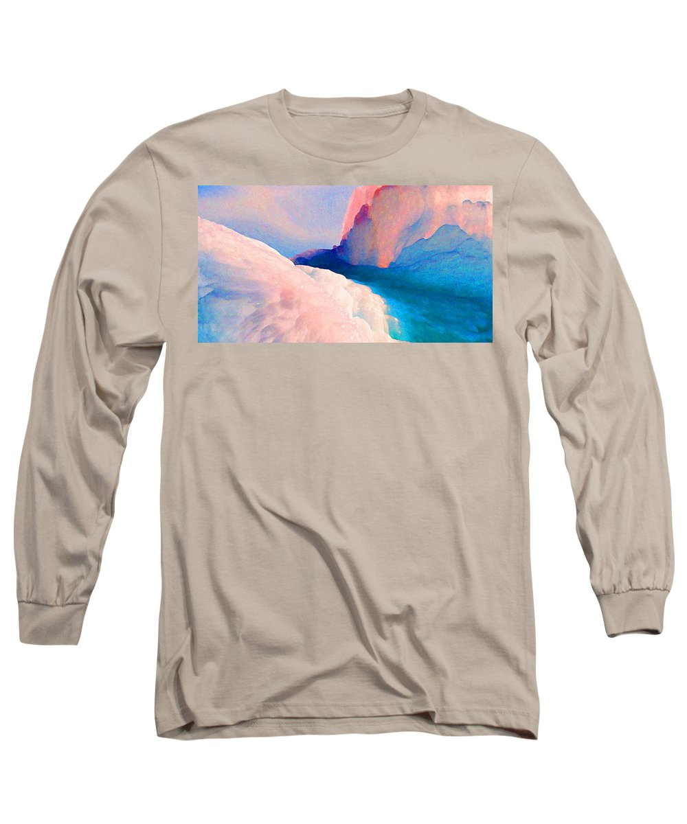 Abstract Long Sleeve T-Shirt featuring the photograph Ebb And Flow by Steve Karol