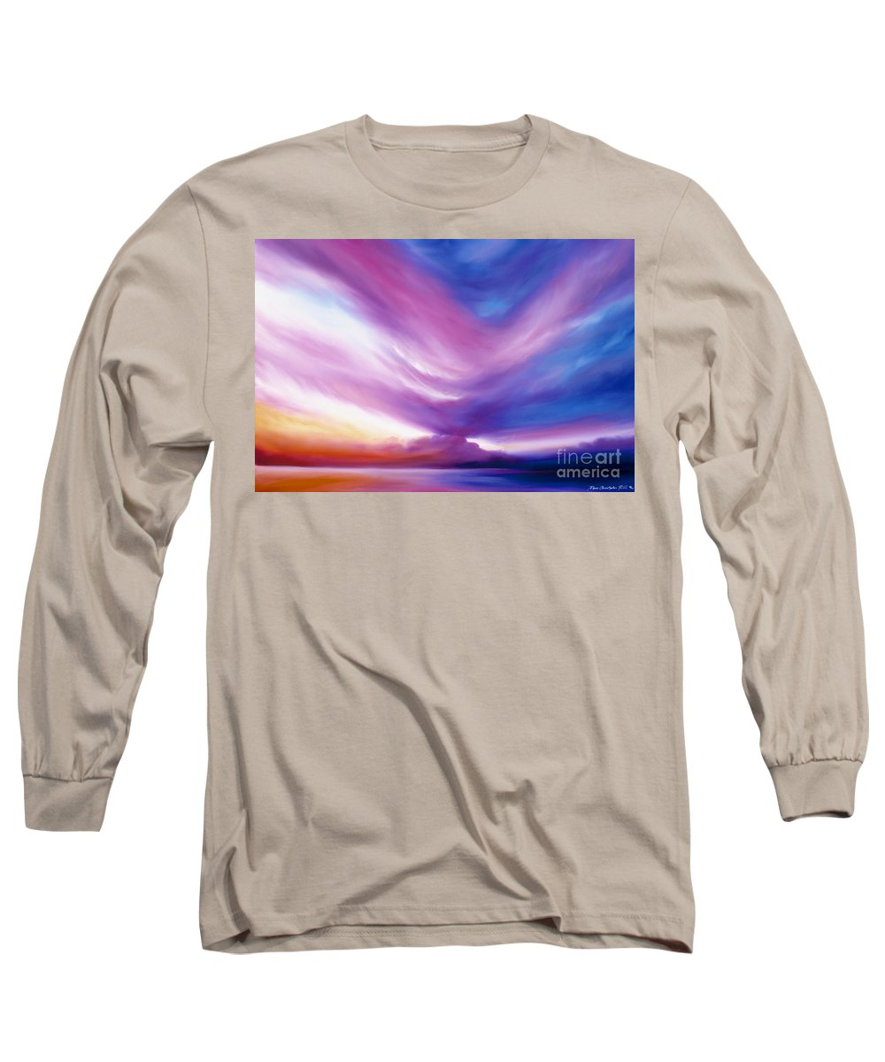 Clouds Long Sleeve T-Shirt featuring the painting Ecstacy by James Christopher Hill