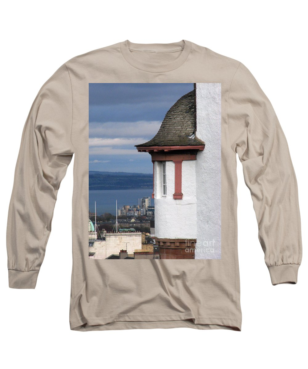 Scotland Long Sleeve T-Shirt featuring the digital art Edinburgh Scotland by Amanda Barcon