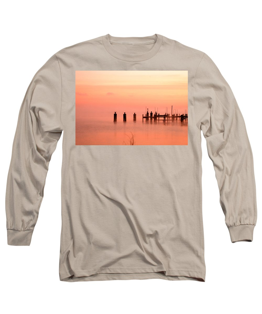 Clay Long Sleeve T-Shirt featuring the photograph Eery Morn by Clayton Bruster