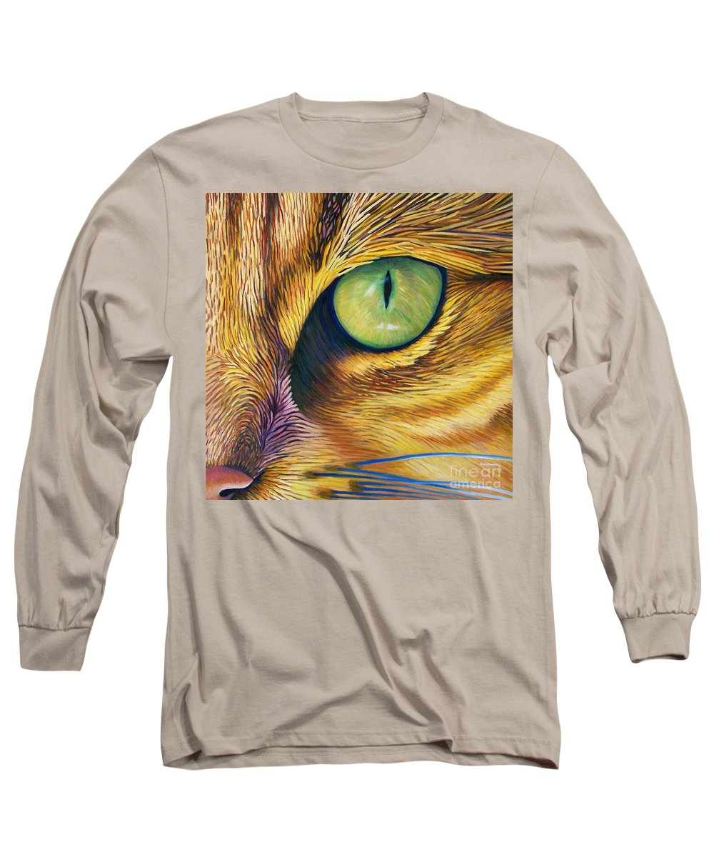 Cat Long Sleeve T-Shirt featuring the painting El Gato by Brian Commerford
