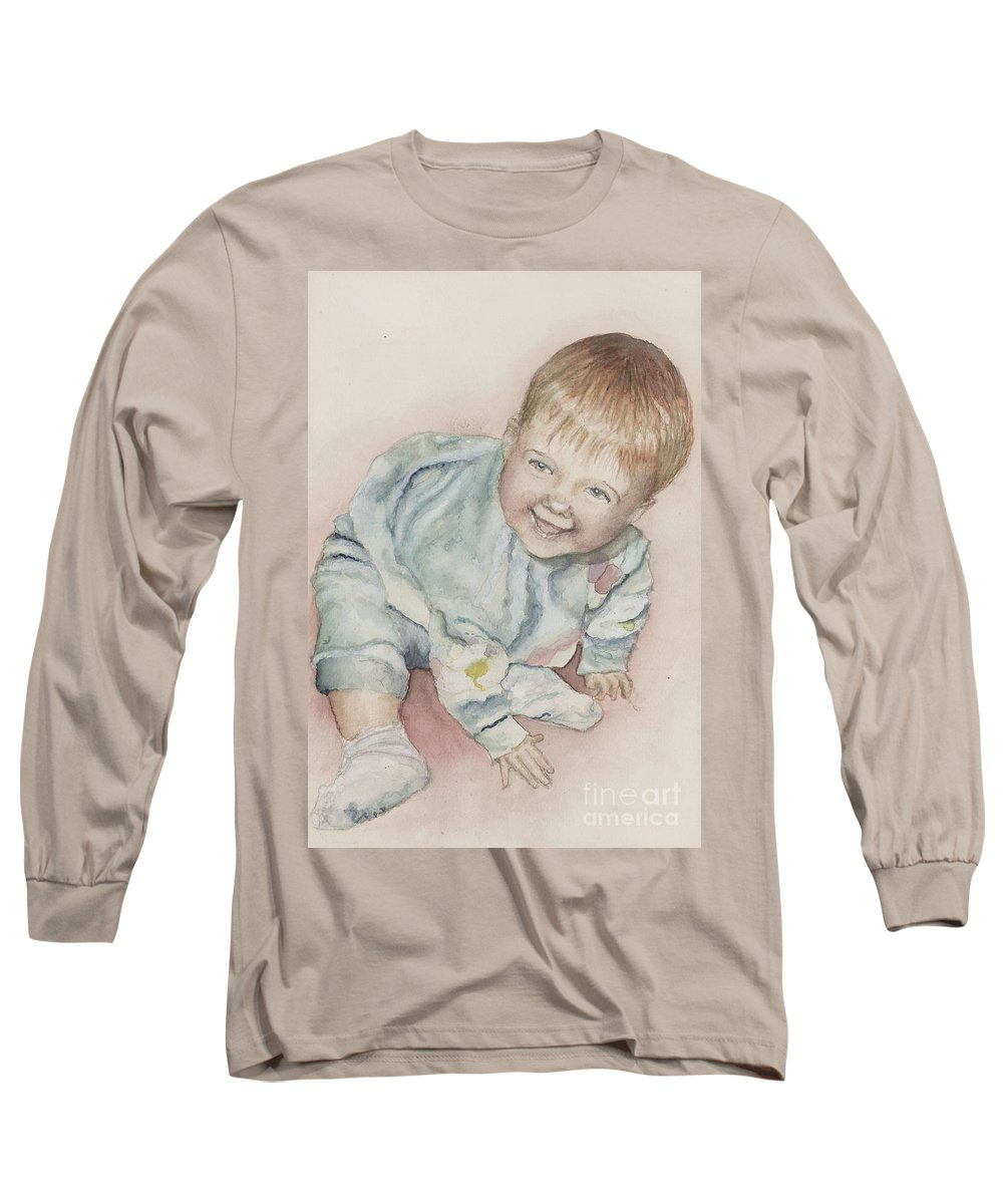 Girl Long Sleeve T-Shirt featuring the painting Elise by Nadine Rippelmeyer