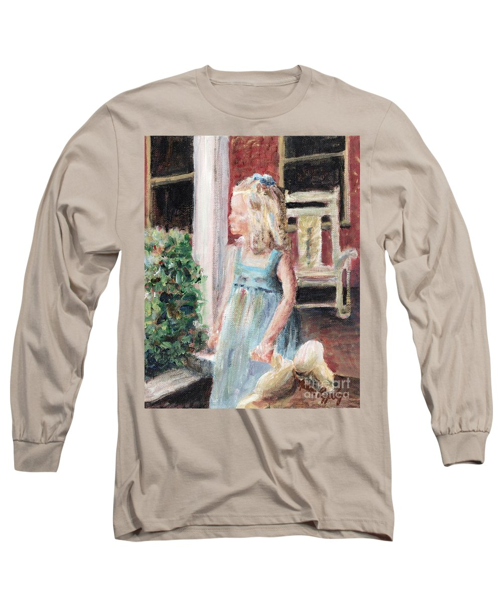 Girl Long Sleeve T-Shirt featuring the painting Elizabeth Anne by Nadine Rippelmeyer