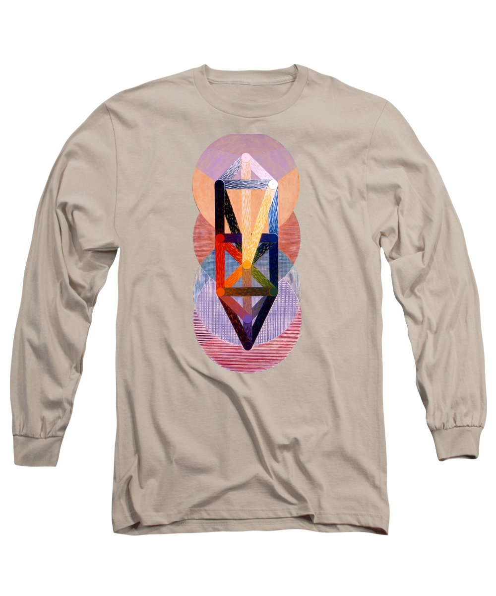 Painting Long Sleeve T-Shirt featuring the painting Emanations by Michael Bellon