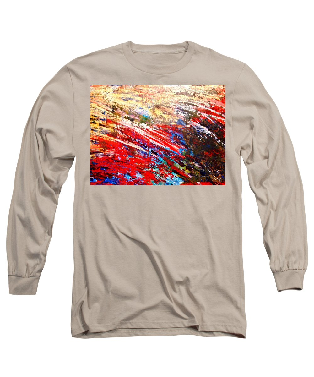 Expressionism Long Sleeve T-Shirt featuring the painting Emotional Explosion by Natalie Holland