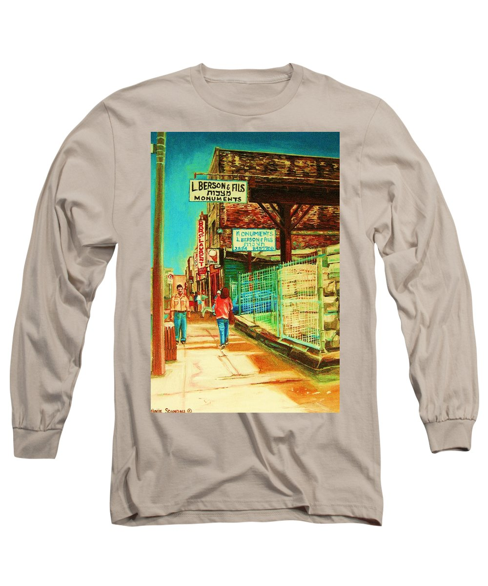 Berson Monuments Long Sleeve T-Shirt featuring the painting End Of Days by Carole Spandau