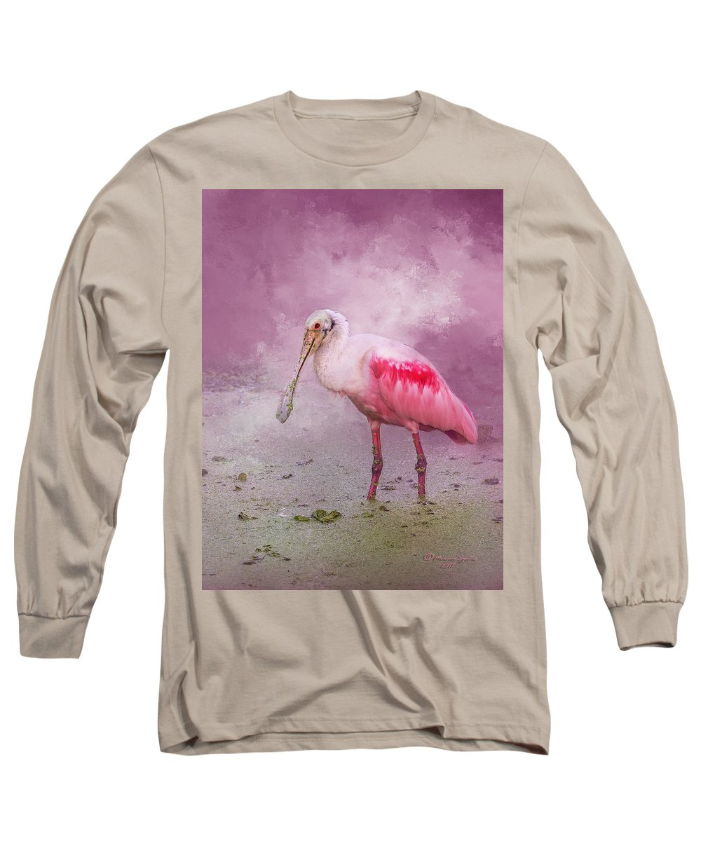 Wildlife Long Sleeve T-Shirt featuring the photograph Everything Is Rosie by Marvin Spates