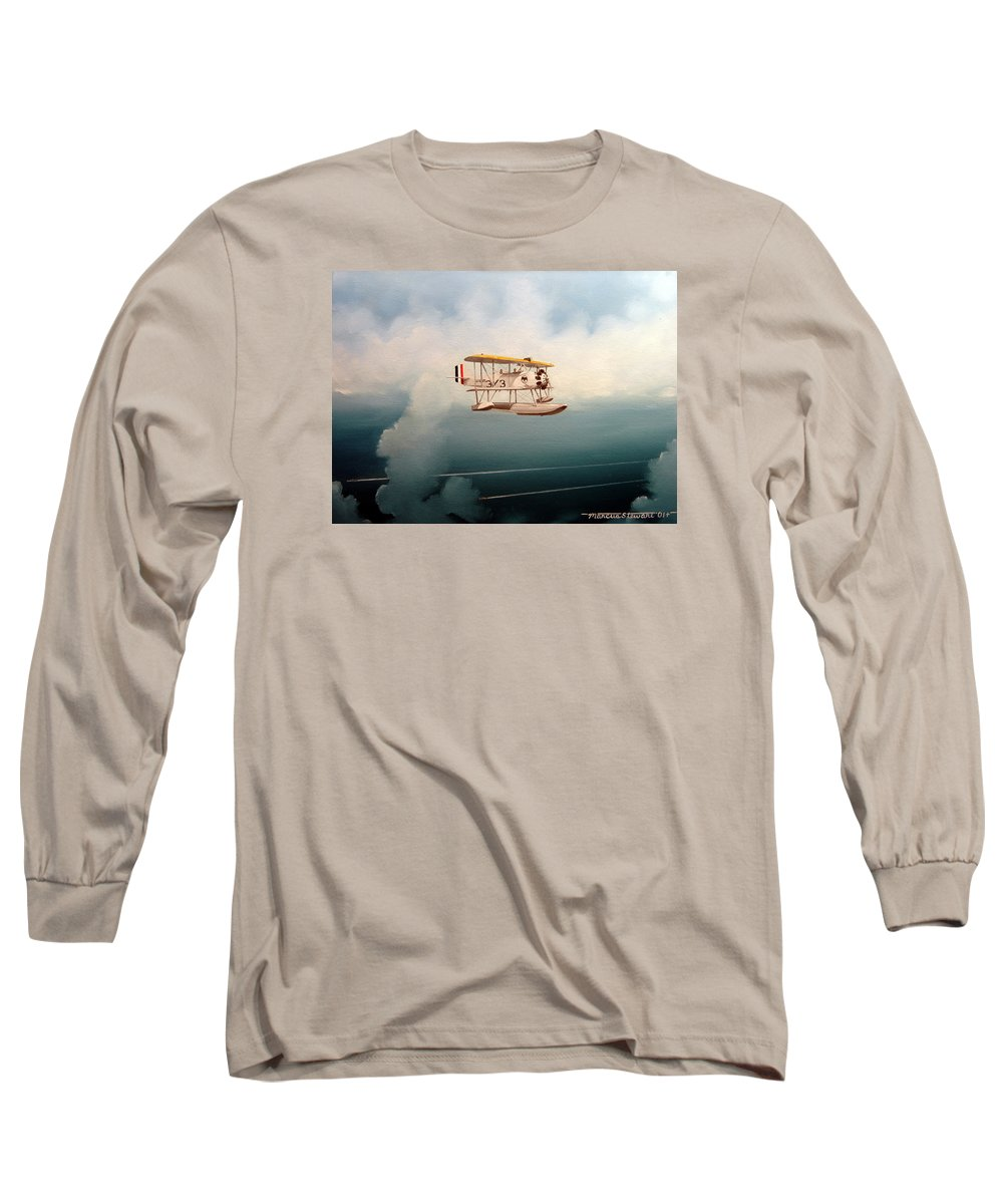 Military Long Sleeve T-Shirt featuring the painting Eyes Of The Fleet by Marc Stewart