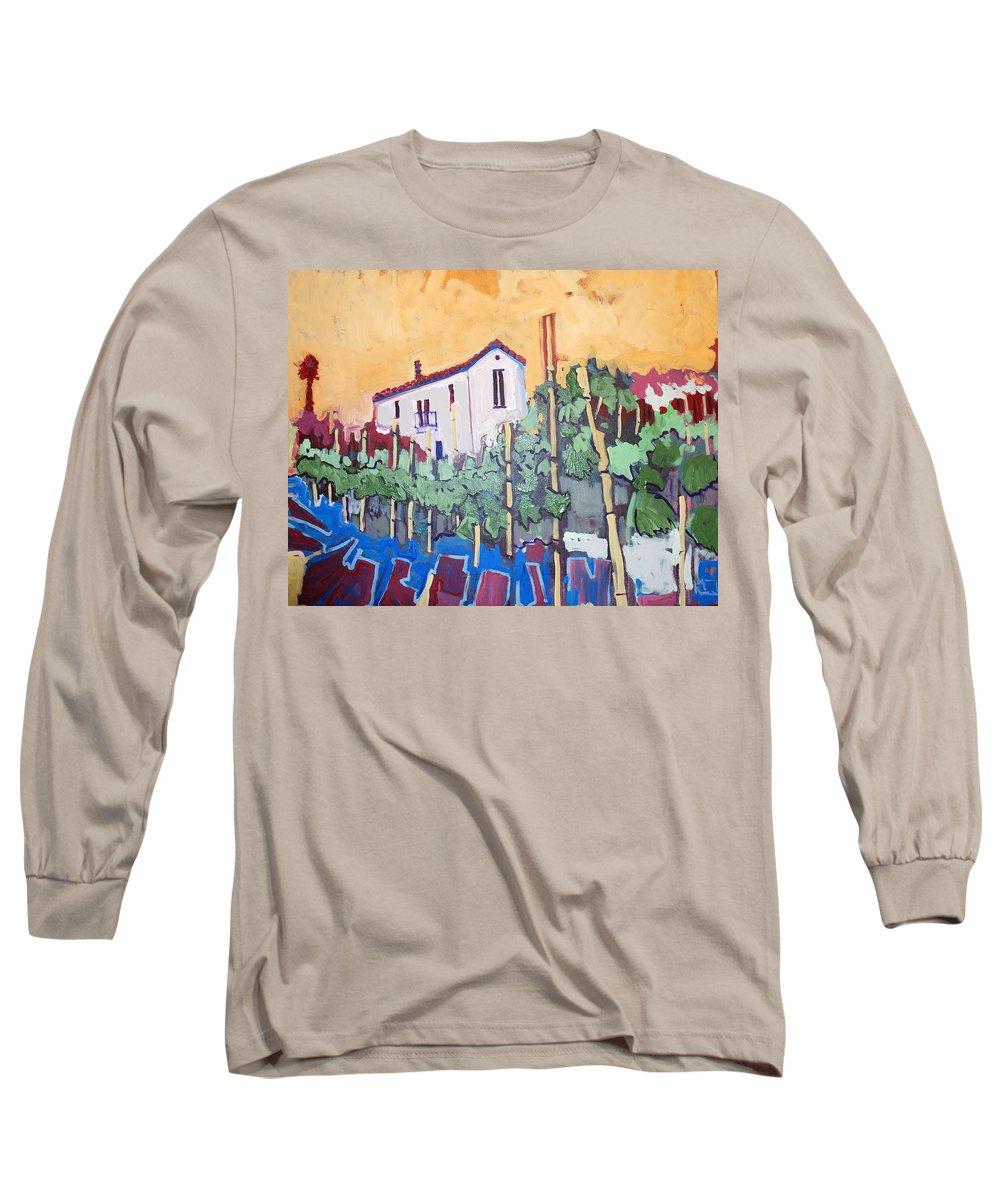 Farm House Long Sleeve T-Shirt featuring the painting Farm House by Kurt Hausmann