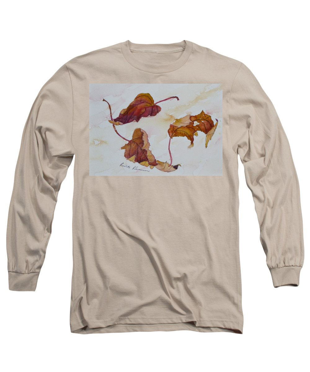 Fall Long Sleeve T-Shirt featuring the painting Floating by Ruth Kamenev
