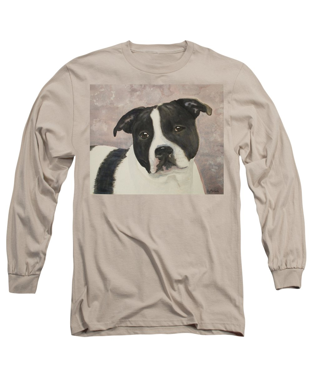 Dog Long Sleeve T-Shirt featuring the painting For Me by Ally Benbrook