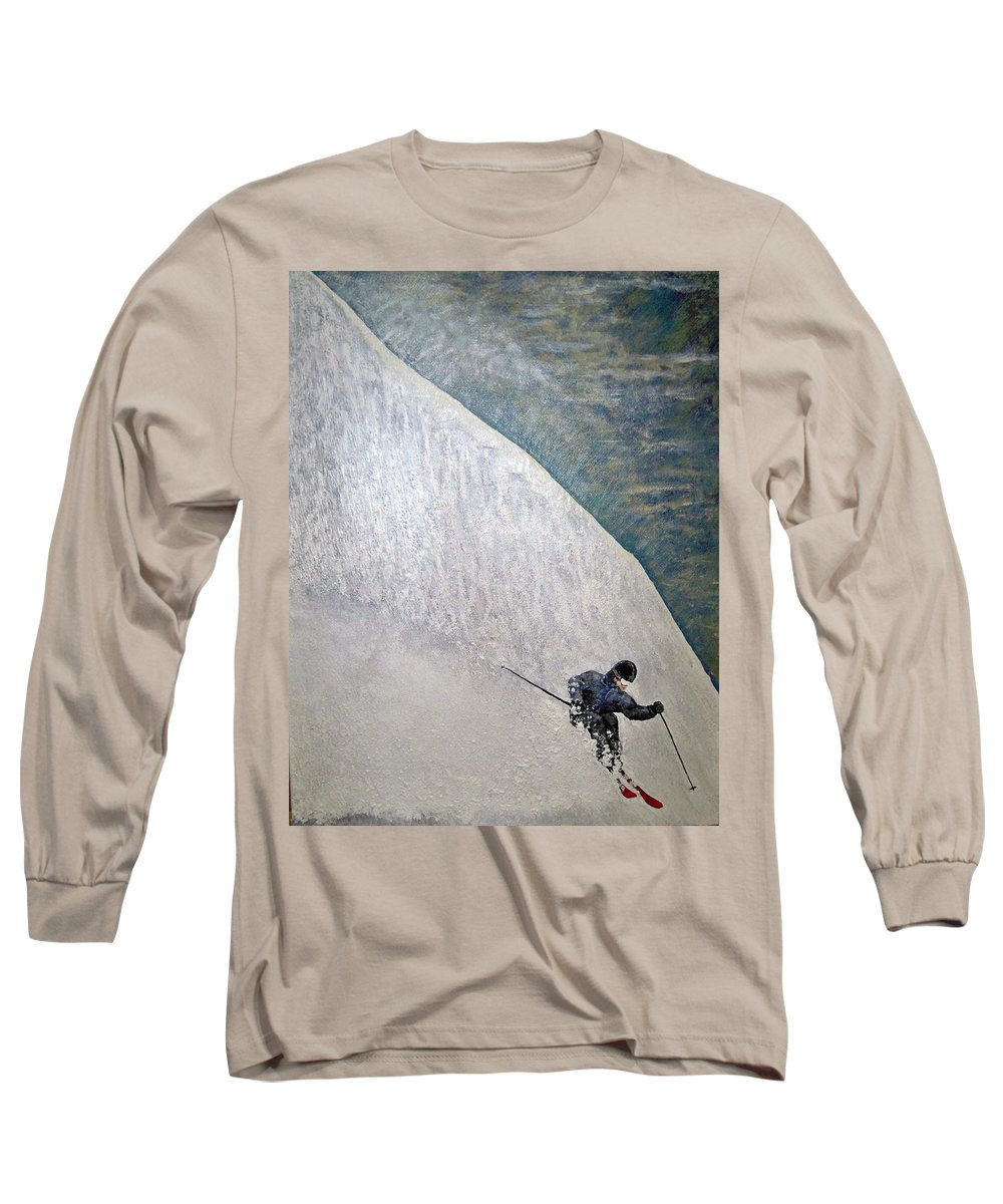 Landscape Long Sleeve T-Shirt featuring the painting Form by Michael Cuozzo
