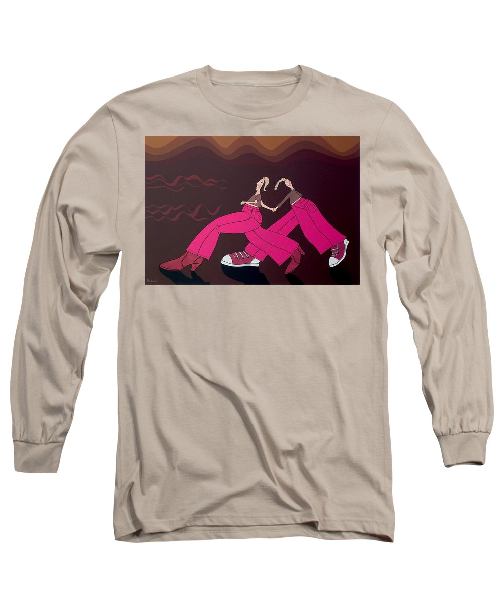 Girls Long Sleeve T-Shirt featuring the painting Fourteen by Patricia Van Lubeck