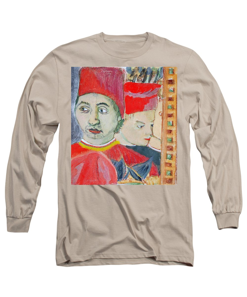 Italian Long Sleeve T-Shirt featuring the painting Fratello by Kurt Hausmann